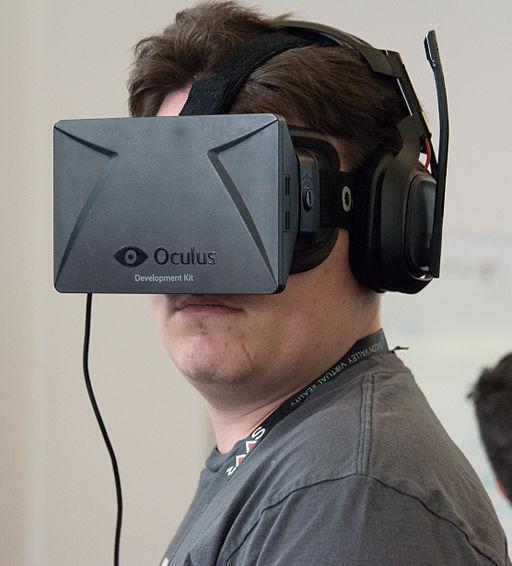 Palmer Luckey wearing Oculus Rift DK1