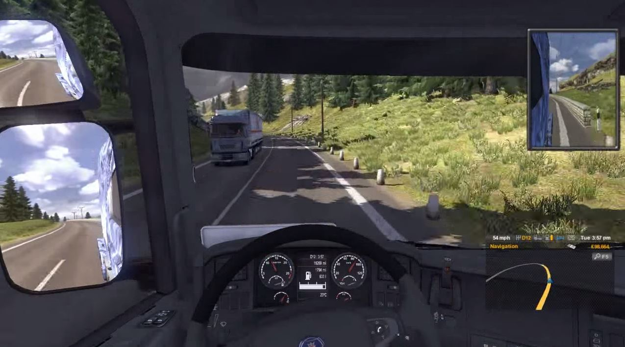 euro truck simulator 2 on oculus rift about gameplay. Black Bedroom Furniture Sets. Home Design Ideas