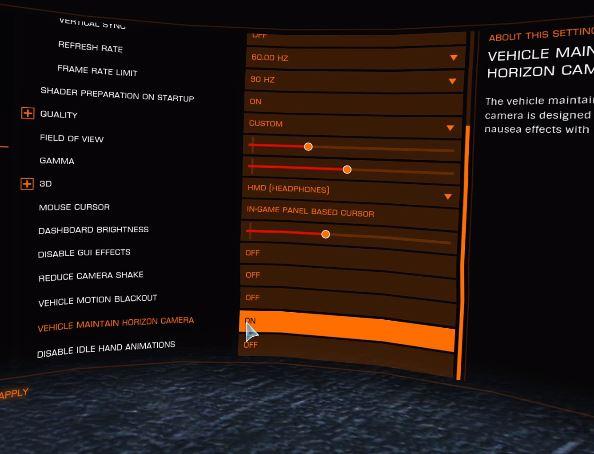 oculus rift elite dangerous 3D settings