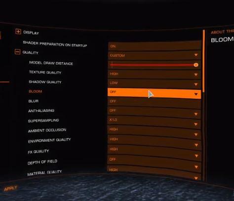 oculus rift elite dangerous quality settings
