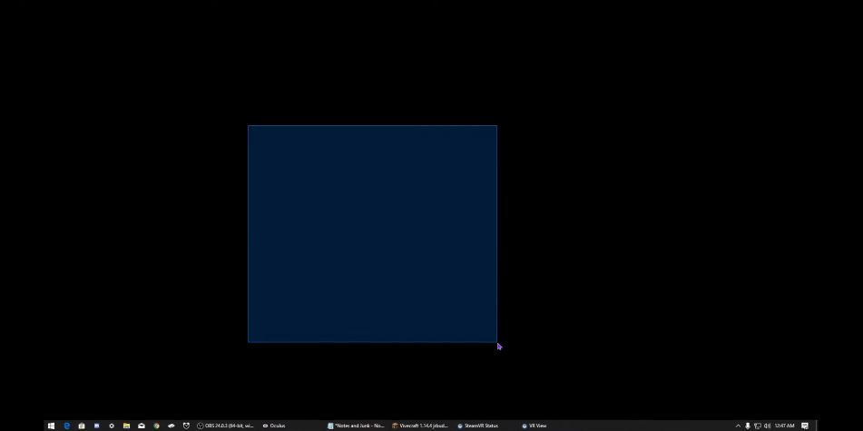 getting black screen with vivecraft