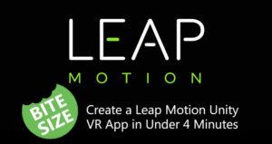 create vr app leap motion