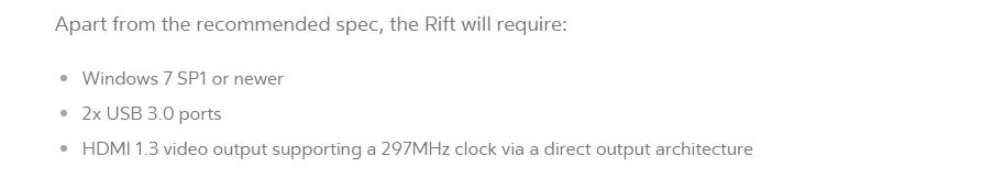 rift requirements
