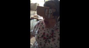 vr google cardboard grandma