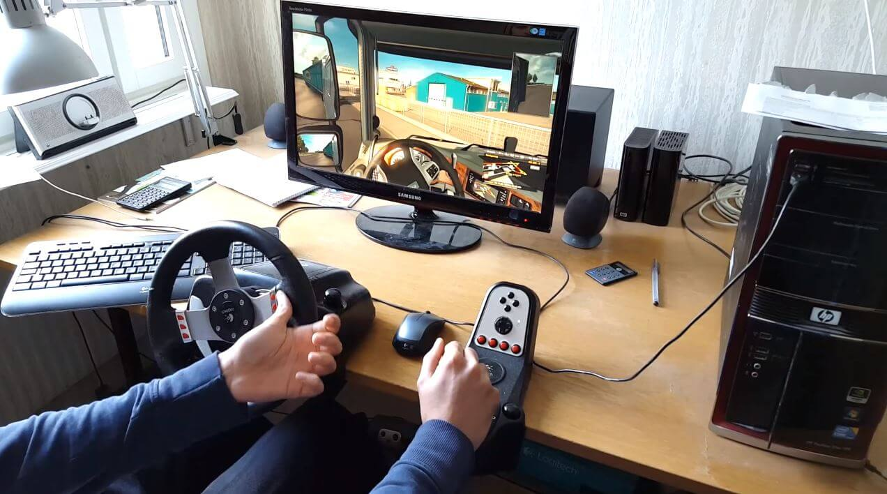 oculus rift steering wheel g27