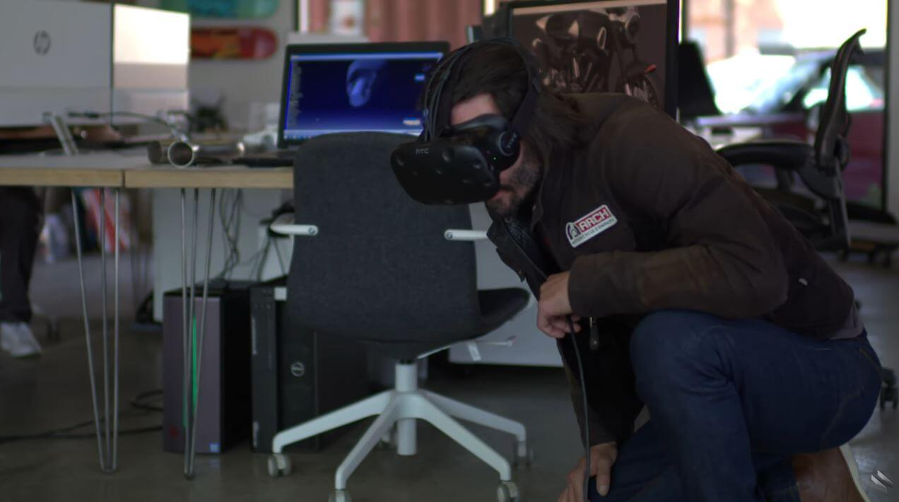 Keanu Reeves Using The Power Of VR To Build Custom