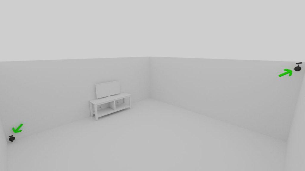 1 Oculus Sensor On Floor