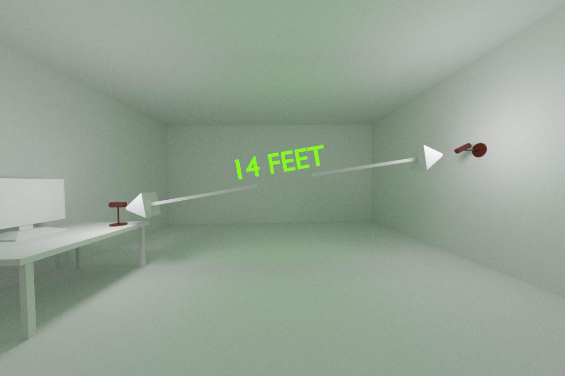oculus rift distance between sensors